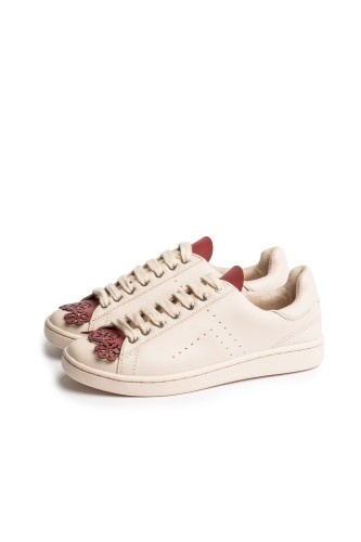 Floral Red Fringes - Shoe Tongues
