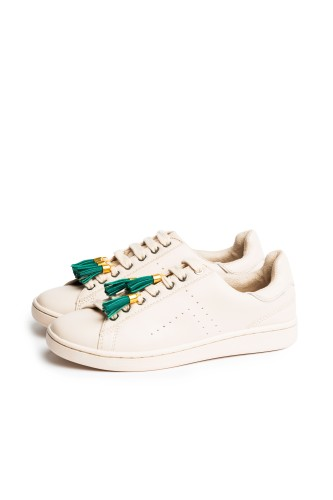 Tassel Me in Green & Golden - Shoelace Charms